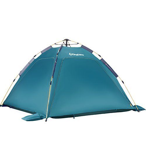 KingCamp Quick Up 3-4 Person Breathable Cabana Beach Sun Shelter Tent with Detachable Three Side Walls
