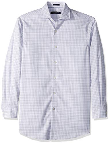 Tommy Hilfiger Men's Non Iron Regular Fit Check Spread Collar Dress Shirt, Red Multi, 16.5
