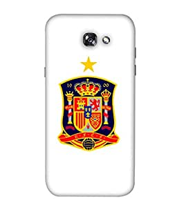 ColorKing Football Spain 09 White shell case cover for Samsung A5 2017