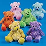 Fun Express Plush Chenille Bears (1 Dozen)
