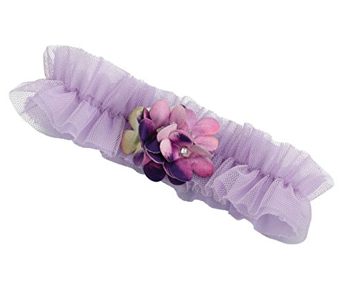 Lillian Rose Unique Light Purple Flower Prom Wedding Garter ()