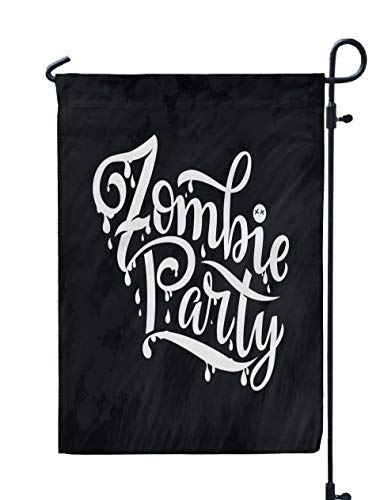 Shorping Open Garden Flag, 12x18Inch Phrase Happy Halloween Modern and Stylish Drawn Lettering Horror for Holiday and Seasonal Double-Sided Printing Yards Flags]()