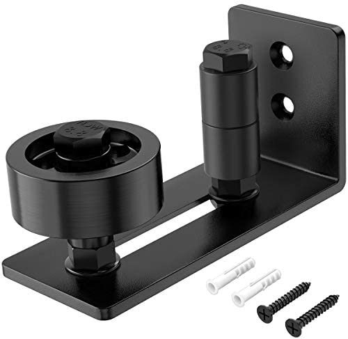 Homlux Heavy Duty Sliding Barn Door Floor Guide,Adjustable Roller,Wall Mount System,Flush Bottom Design, Barn Door Panel Non-Damage(8 in 1)