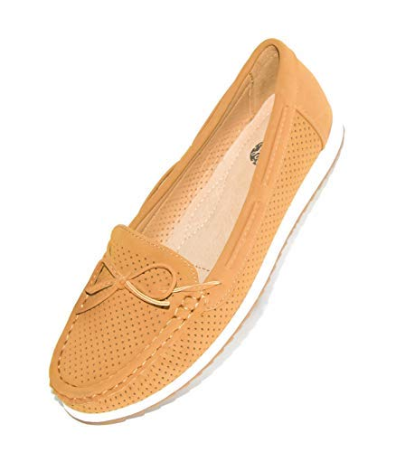 LSW Womens Slip-on Loafers Comfort Shoes | Driving/Walking Classic Lady Moccasins with Casual, Beautiful & Soft Fashion Design
