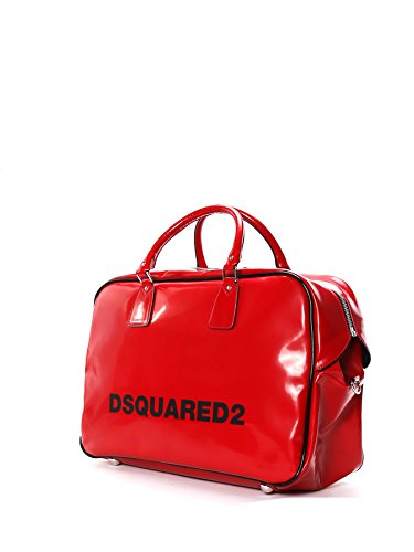 DSQUARED2 HOMME S17DF108912504065 ROUGE PVC MALLETTE