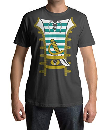 Pirate Halloween Costume Men's T-Shirt Add-On, X-Large, Charcoal]()