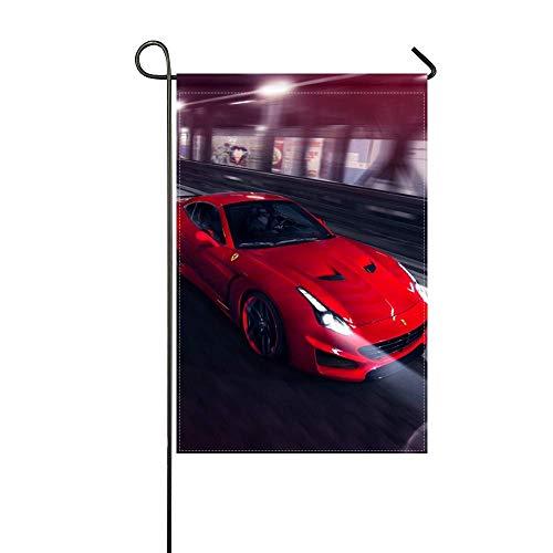 Novitec Ferrari - DongGan Garden Flag Ferrari Pininfarina Novitec Rosso Red Speed 12x18 Inches(Without Flagpole)