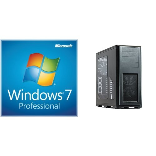 Windows 7 Professional SP1 64bit (OEM) System Builder DVD 1 Pack with  B00K6S1B3Q Phanteks Enthoo Pro Full Tower Chassis with Window Cases PH-ES614P_BK
