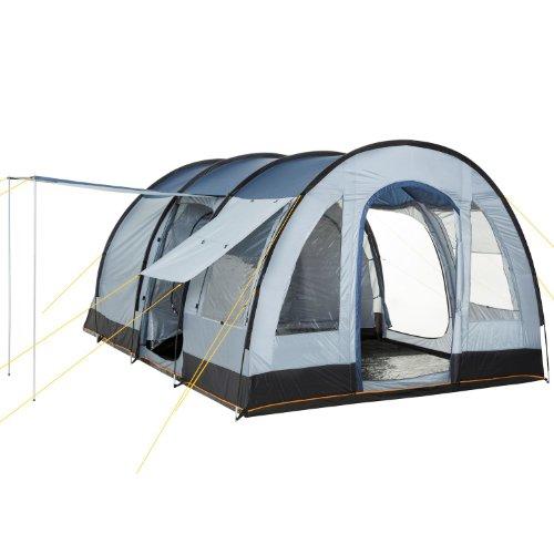 CampFeuer - Großes Tunnelzelt, Blau/Grau, 5000 mm Wassersäule, Campingzelt, Mod. 2015