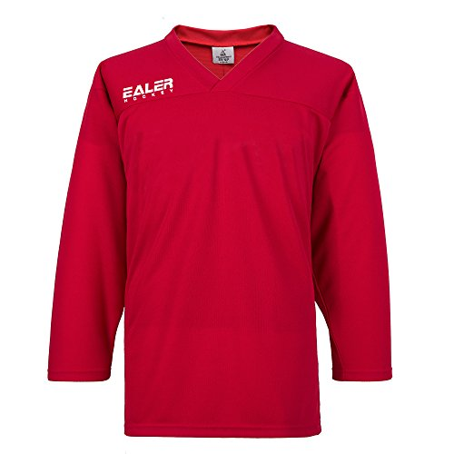 EALER Adult Youth Hockey Practice Jersey - Senior to Junior (Red, Senior Small) ()