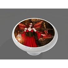 Wishing Well Fairy High Gloss Ceramic Drawer Knob