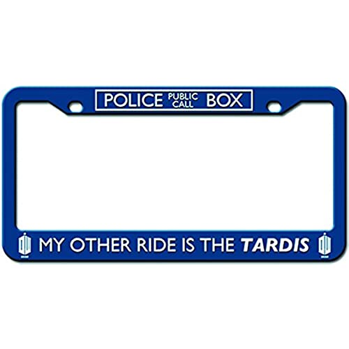 doctor who license plate frame my other ride is the tardis design 625 x 1225 - Doctor Who License Plate Frame