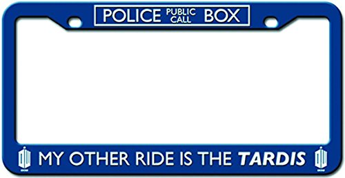 Doctors Plate (Doctor Who License Plate Frame - My Other Ride Is The TARDIS Design 6.25