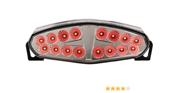 Integrated Sequential LED Tail Lights Clear Lens for 2009-2011 Kawasaki Ninja 650R & ER-6n