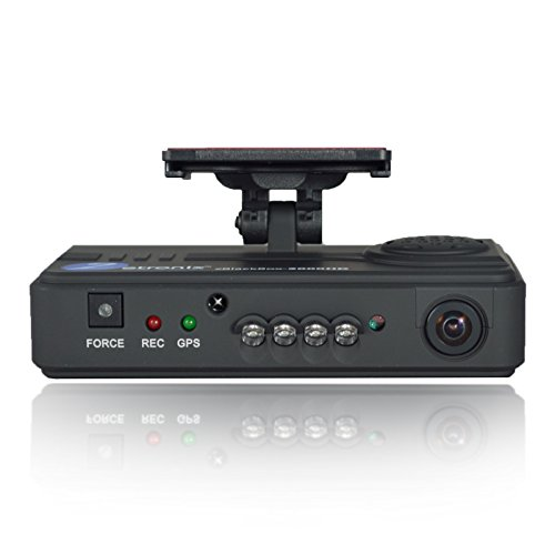 720p Wide Angle Dual Car Camera 2 Channel with GPS & Night Vision Dash Cam Dash Camera