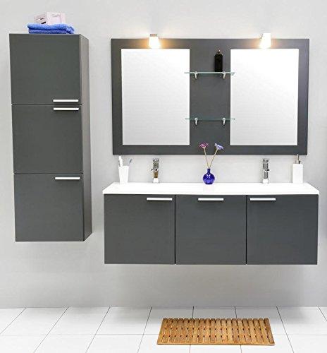 Juego de muebles para baño con lavabo Espejo doble Armario ...