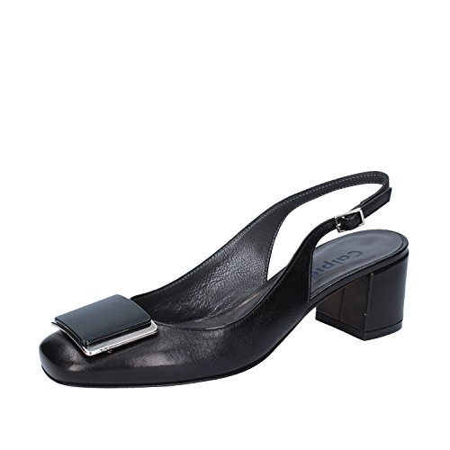 35 Woman Black UK EU CALPIERRE Leather Sandals 2 n5qOgPI