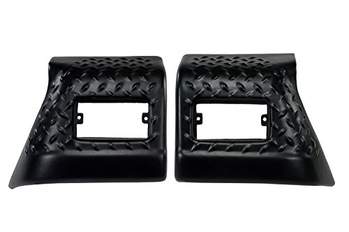 Rugged Ridge 11650.20 Black Diamond Plate Front Fender Guard - Pair