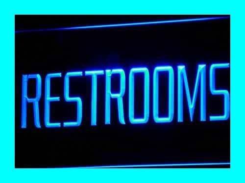 RESTROOMS Toilet Washroom LED Sign Night Light i157-b