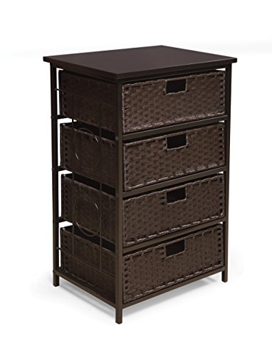 Badger Basket August Four Storage Unit, Tall Espresso from Badger Basket