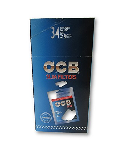 OCB Filter Tips Slim Rolling Papers Filters Cigarette Papers Filters Smoking Papers Filters Pack of 102 Bags from Sudesh Enterprises by OCB (Image #5)