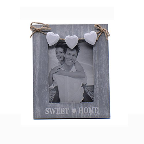 Exquisite European Wood Picture Frame Wedding Decor Picture Frame Christmas Gifts Desktiop Decor Classic Photo Frame Kangsanli (Three heart)