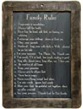 Framed Family Rules Blackboard - Primitive Country Rustic Inspirational Wall Decor by PUCHAN-LM