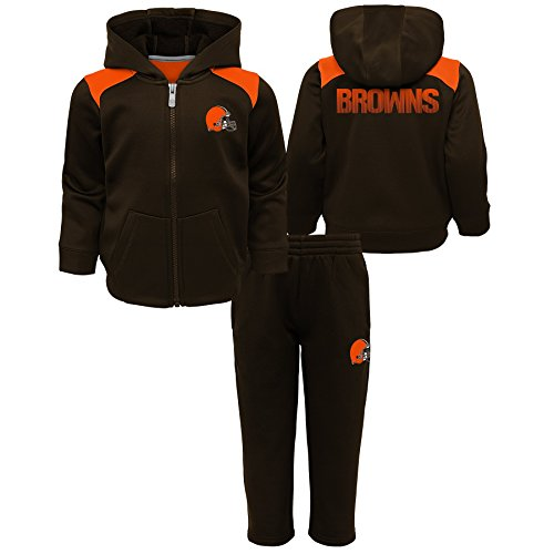 (Outerstuff NFL Cleveland Browns Kids Play Action Performance Fleece Set, Brown Suede, Kids Small(4) )