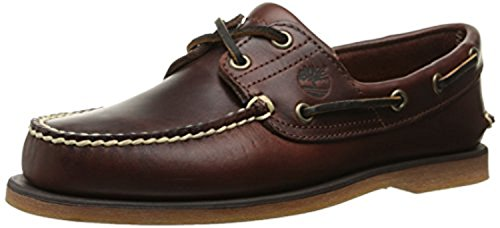 Timberland 2 Eye - Timberland Men's 2-Eye Boat Shoes Rootbeer Smooth 8 M & Knit Cap Bundle