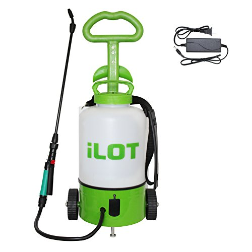 iLOT Electric 2 Gallon Sprayer on Wheels/Trolley, Rechargeable Garden Sprayer by iLOT