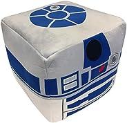 Jay Franco Star Wars R2-D2 Cube Pillow, White