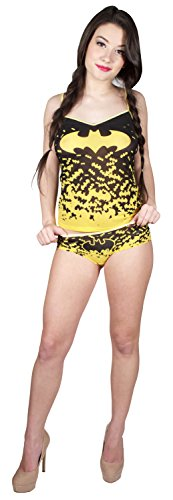 DC Comics Batman Mesh Cami & Panty Set for women (Large) (Womens Batman Underwear)