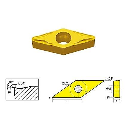 HHIP 6005-2332 VBMT/HM 35 Degree Diamond Positive Rake Carbide Insert, 1/4' IC, .0315' Radius 1/4 IC .0315 Radius ABS Import Tools Inc.