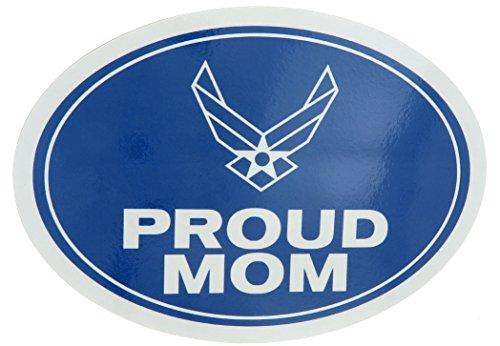 U.S. Air Force USAF Proud Mom USA Military Oval Car Refrigerator Magnet (Mom Refrigerator Magnet)