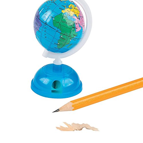 Bargain World Globe Pencil Sharpeners (With Sticky Notes)