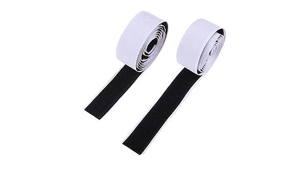 ounona cinta de Velcro (autoadhesiva, [5 m], Negro, autoadhesivo ...
