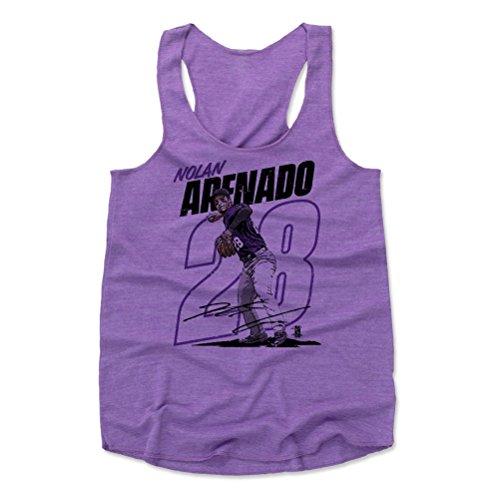 500 LEVEL Nolan Arenado Women's Tank Top Medium Purple - Colorado Baseball Women's Apparel - Nolan Arenado Outline P