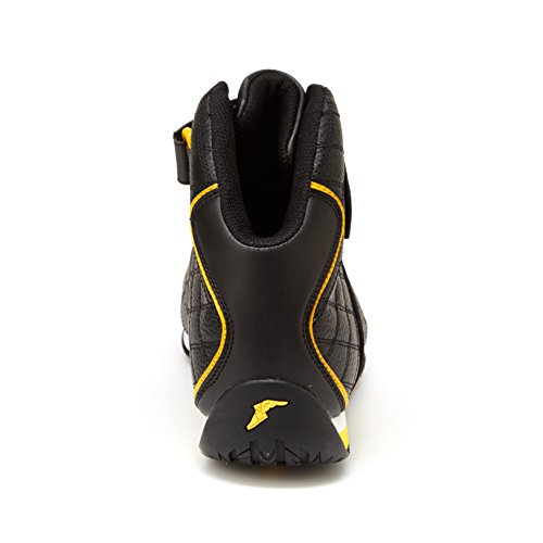 Goodyear Herren Clutch Racer Sneaker - Hohe Sneakers, PU-Leder & Mesh-Futter Schwarz Gelb