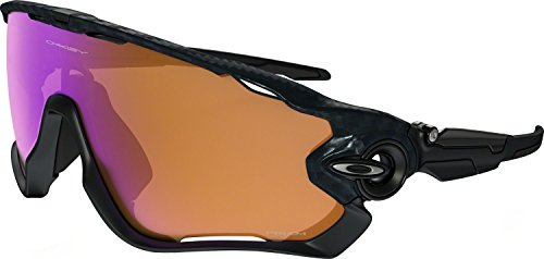 Oakley Men's Jawbreaker Non-Polarized Iridium Rectangular Sunglasses, Carbon Fiber, 31 mm