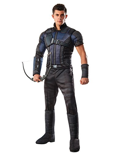 Rubie's Costume Co Marvel Men's Captain America: Civil War Deluxe Muscle Chest Hawkeye Costume -