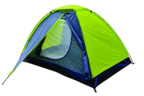 NTK Koala 2 Person 7 by 5 Foot Sport Camping Dome Camping Hiking Backpackers Tent Dry season with Zippered Door and Compact Carrying Bag.