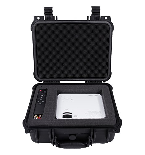 CASEMATIX Waterproof Carrying Case Designed For DBPower T20 1500 Lumens Home Theatre Projector , Remote , Power Supply , Cables and Accessories by CASEMATIX (Image #3)