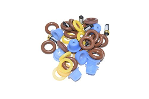 The Injector Shop 4-114 Fuel Injector Rebuild Seal Kit for Ford