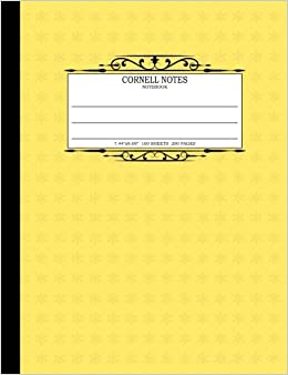 cornell notes notebook 7 44 x9 69 200 pages cornell note taking