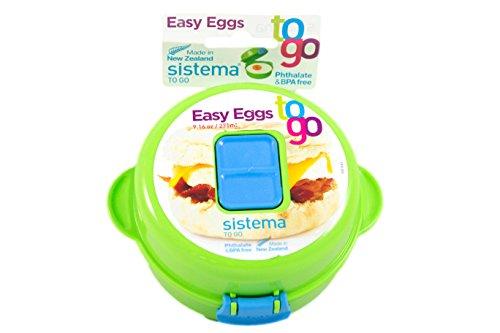 Sistema 9.16-Ounce Easy Eggs To Go, Green, 2-Pack