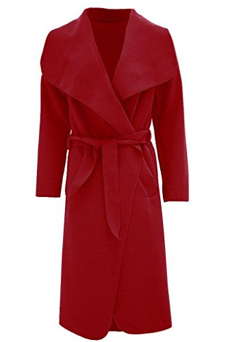 Taille Manteau Multicoloured Generic Unique Bordeaux Femme Trench multicolore IXBXwqvd