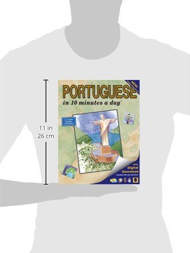 PORTUGUESE in 10 minutes a day: Language course for beginning and advanced study.  Includes Workbook, Flash Cards, Sticky Labels, Menu Guide, Software ... Grammar.  Bilingual Books, Inc. (Publisher)