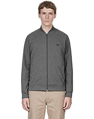 J8215 Mens Bomber Neck Track Jacket