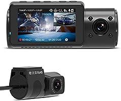 VANTRUE N4 3 Lens Dashcam 1440P + Dual 1080P Kamera Auto, Infrarot-Cut Nachtsicht, 2592x 1520P vorne, 24/7 Parkmodus, WDR...