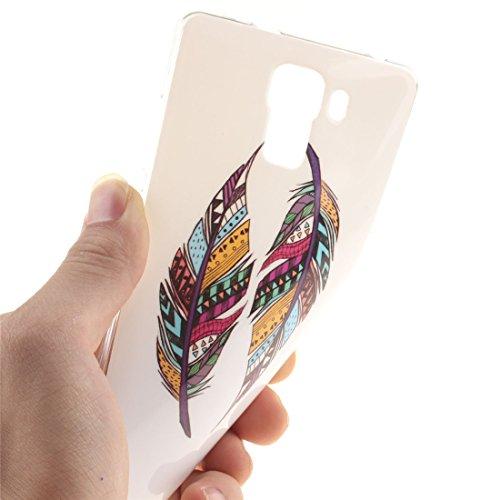 Cas Transparent De Hozor Huawei Slim Feather Scratch Peint Protection Motif Cas Antichoc Couverture Honor Souple TPU Résistant En Bord Téléphone Silicone De 7 Arrière Fit xRtwgrdR